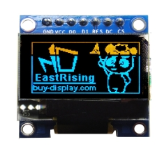 Yellow/Blue 0.96 inch OLED Display w/Breakout Board,Library for Arduino ER-OLEDM0.96-1YB
